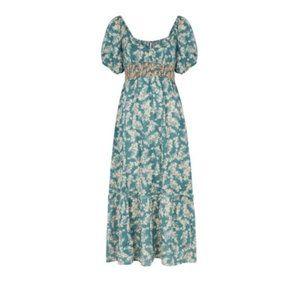 Free People Ellie Floral Smocked Maxi Dress S